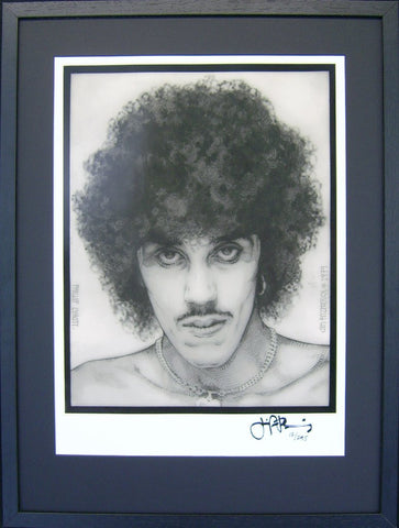 Phil Lynott Portrait - Green Gallery