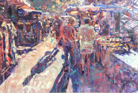 Evening Shadows, Ganges Market by Arthur K. Maderson