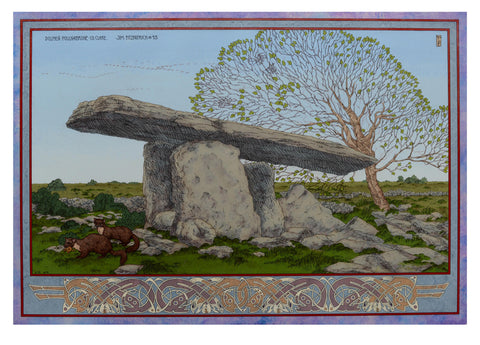 Poulnabrone Dolmen Day by Jim FitzPatrick - Green Gallery