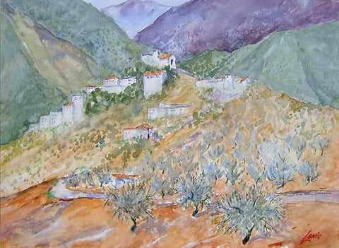 Santa Anna On The Hills Andalucia by Noel Lewis