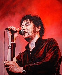 Shane MacGowan In Red