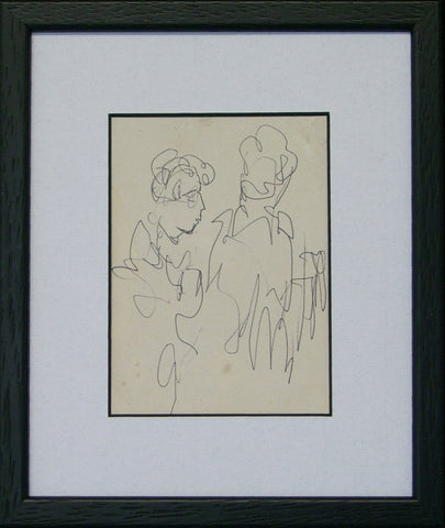 Two Figure Sketch by Markey Robinson - Green Gallery