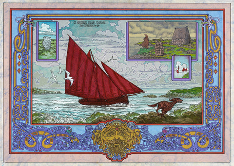 St MacDara's Island by Jim FitzPatrick - Green Gallery