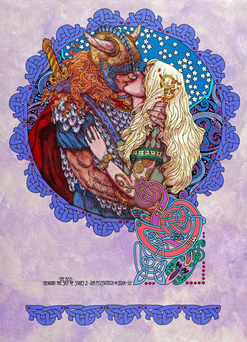 The Kiss Beneath The Sky Of Stars by Jim FitzPatrick - Green Gallery
