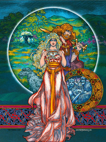 The Magic Cup by Jim FitzPatrick - Green Gallery