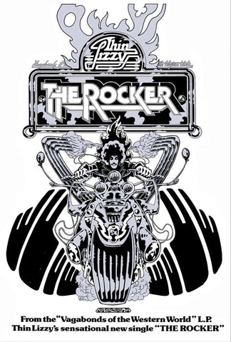 'The Rocker' Biker black and white