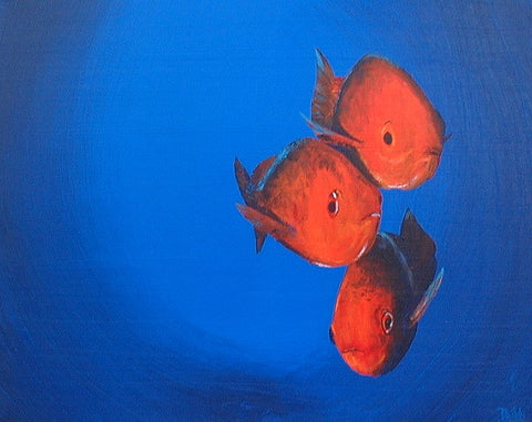 Three Red Snappers(Three Friends) - Green Gallery