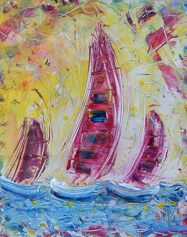 Yacht Race by Ross Eccles - Green Gallery