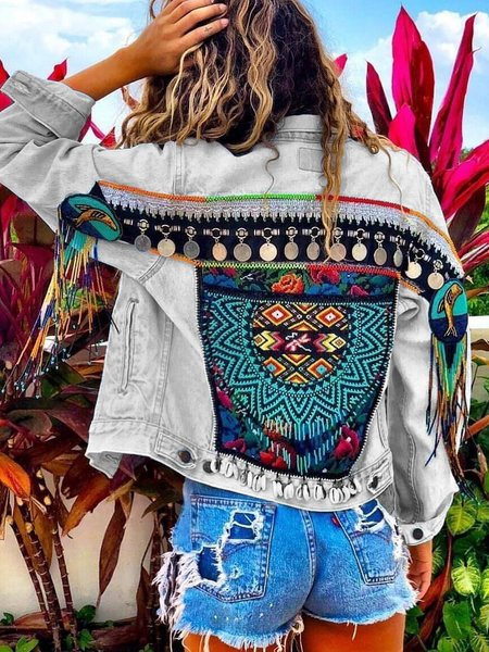 Boho Denim Coat - chiclila.com