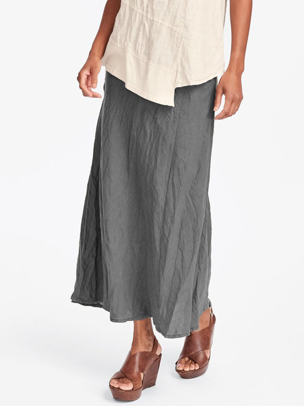 Cotton Maxi Skirt Casual Plain Skirts