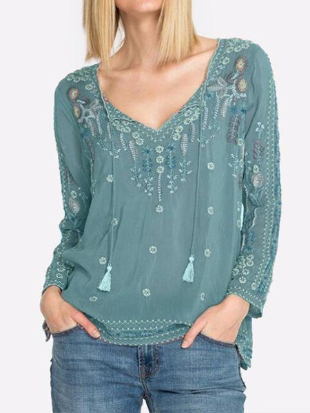 Embroidered Blouse - chiclila.com