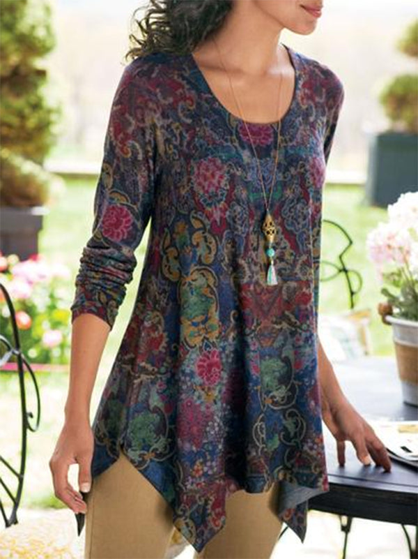 Women Long Sleeve Boho Tops - chiclila.com