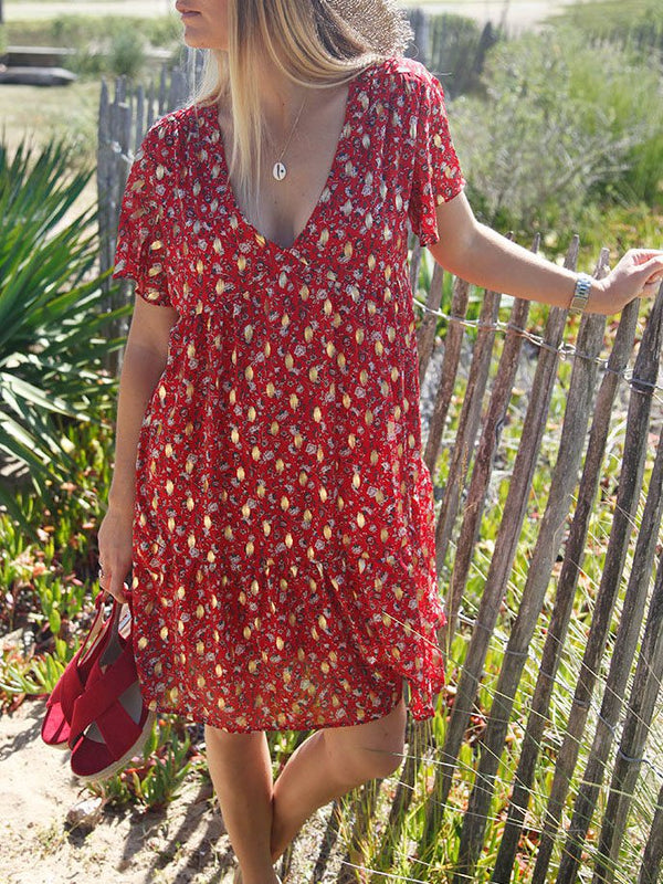 Women Summer Floral Boho Dresses