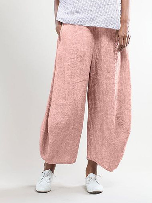 Summer Pockets Shift Casual Capri Pants - chiclila.com