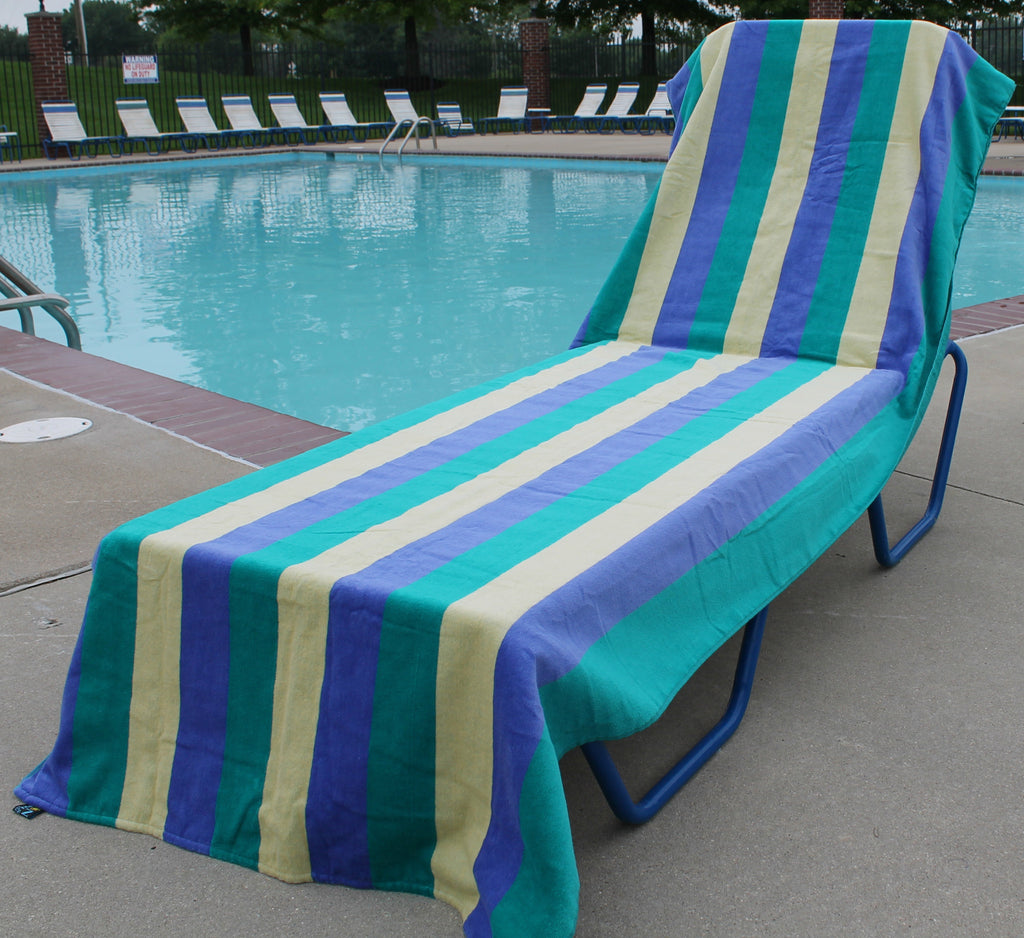 "90"" Extra Long Striped Towel"