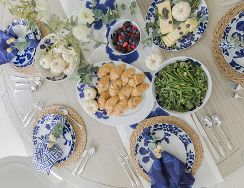 table setting with charger plate