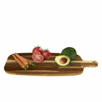 Made Terra Set 1 Acacia Wood Pizza Peel, Serving Pan, Cheese and Charcuterie Boards with Handle for Baking, Cutting Pizza, Bread