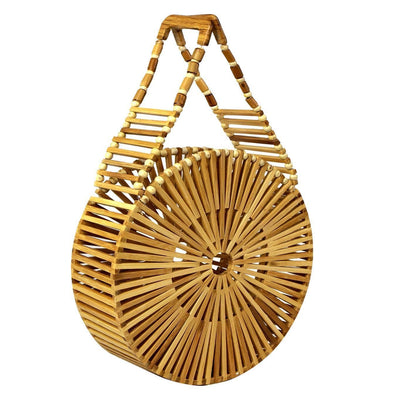 Made Terra Bamboo Bag Bamboo Round Handbags | Summer Essential Vintage Bamboo Bags for Women