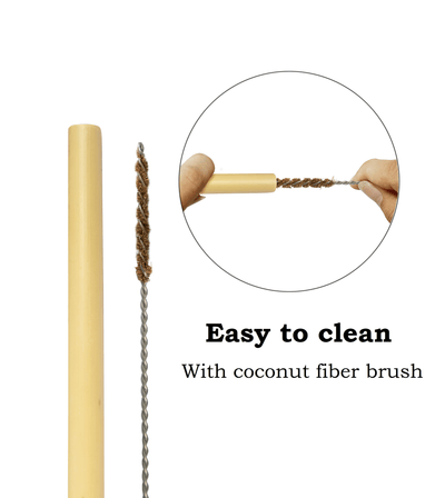 Made Terra Bamboo Straw Bamboo Drinking Straws Set | Biodegradable & Eco-Friendly Alternative to Plastic