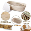 Made Terra Banneton 10-inch Oval Banneton Bread Proofing Baskets | With Scraper and Liner