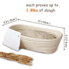 Made Terra Banneton 11-inch Oval Banneton Bread Proofing Baskets | With Dough Scraper and Liner