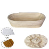 Made Terra Banneton Set of 1 12-inch Oval Banneton Bread Proofing Baskets | With Dough Scraper and Liner