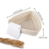 Made Terra Banneton 9-Inch Triangle Banneton Bread Proofing Baskets | With Dough Scraper & Liner