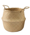 Made Terra Belly Baskets Natural Belly Basket with Handles | Woven Baskets for Laundry Storage & Home supplies (Large)