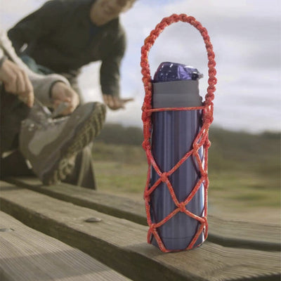 Made Terra Bottle Holder Water Bottle Carrier | Drawstring Drink Holder Pouch (6oz to 30oz Capacity)