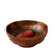 Made Terra Bowl Set 1 Wood Dining Bowl | Organic Wooden Bowl for Serving | Farmhouse Rustic Tabletop Decor