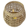 Made Terra Candle Holder Woven Candle Holder w Glass Cup | Seagrass Wicker Latern Jar for Wedding Party & Spa