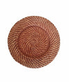 Made Terra Charger Plate Rattan Brown Round Wicker Chargers | Woven Rustic Dinnerware Tableware for Dinner, Party, Wedding