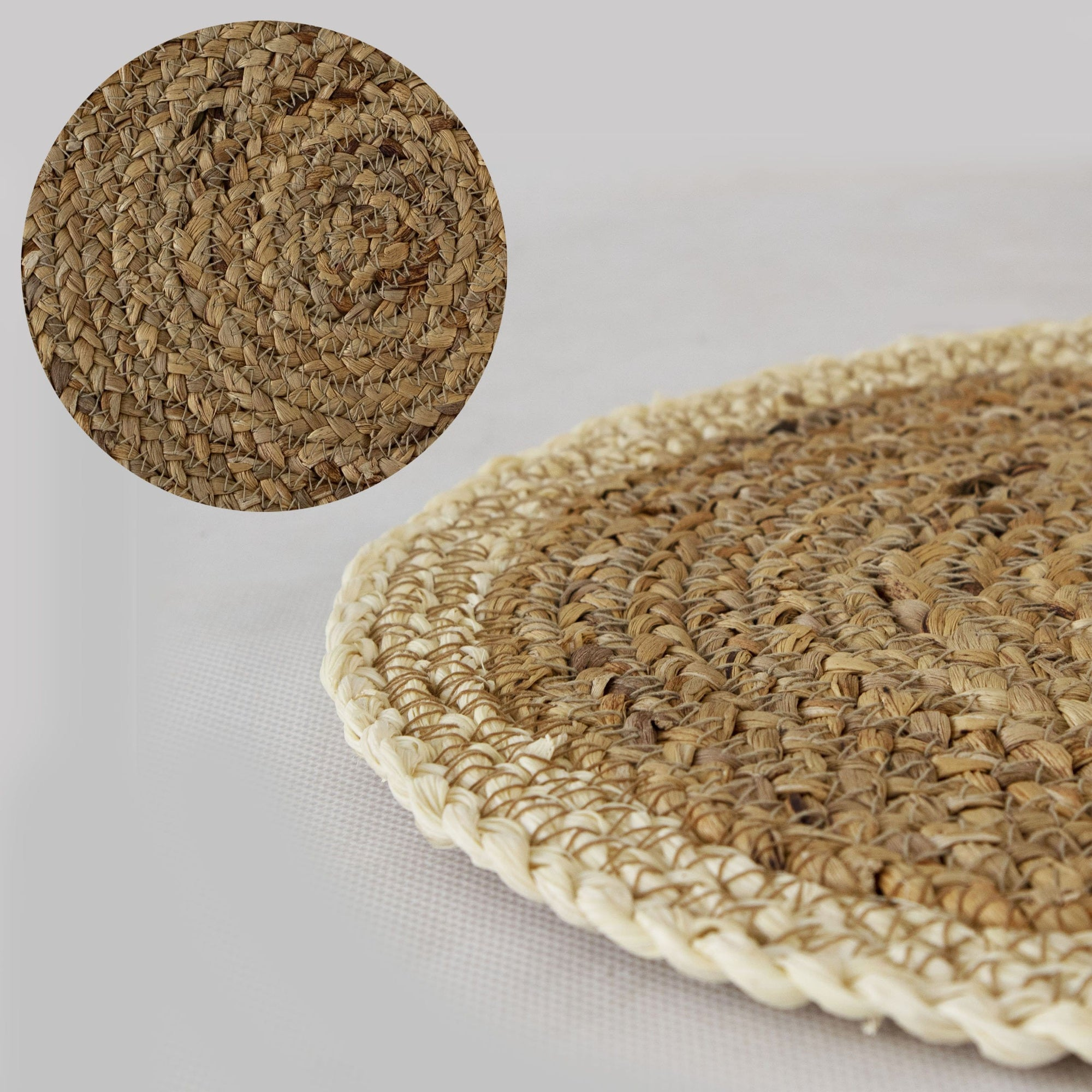 Woven Placemats For Dining Table Wicker Braided Placemat For Dinner Made Terra