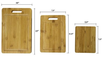 Made Terra Chopping board Bamboo Cutting Boards | Anti-Bacterial Wood Chopping Boards for Food Preparation and Display