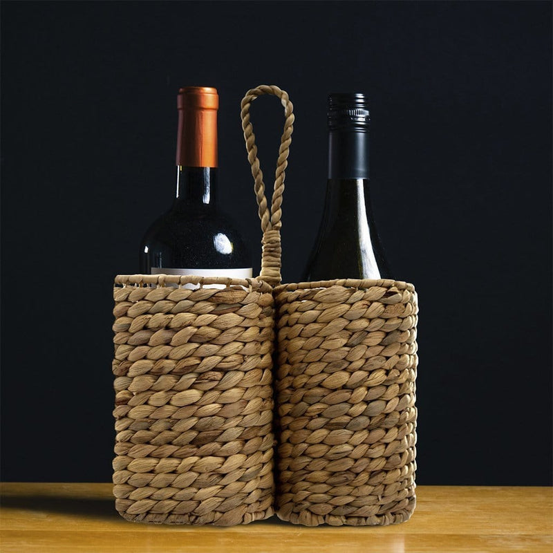 Made Terra Drink Holder Bottle Caddy Carrier | 2-Bottle Holder for Wine, Beer, Soda at Party, Wedding, Dinner, Restaurant