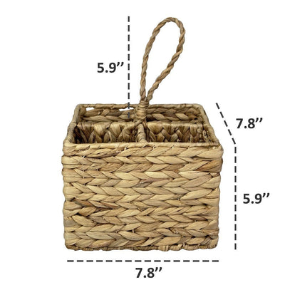 Made Terra Drink Holder Handwoven Bottle Caddy Carrier | 4-Bottle Holder for Wine, Beer, Soda at Restaurant, Wedding Party