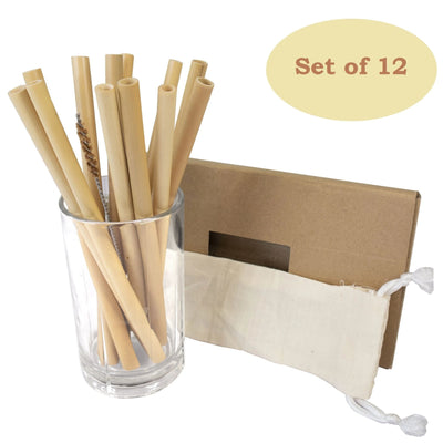 Made Terra Drinking Straw Bamboo Drinking Straws Set | Biodegradable & Eco-Friendly Alternative to Plastic