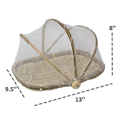 Made Terra Food Tent Woven Food Tent | Round & Rectangle Plate Serving Cover for Dining Outdoor