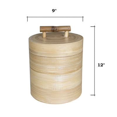 Made Terra Kitchen Canister Kitchen Canister Jars | Bamboo Kitchen Organizer Set