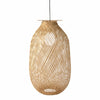 Made Terra Light Cover Bamboo Lamp Cage for Pendant Light | Bulb Guard Lamp Holder, Ceiling Fan Light Bulb Cover (Cage Only)