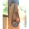 Made Terra Mother of Pearl Straw Bag Purse | Nacre Inlay Boho Bali Ata Rattan Crossbody Handbags