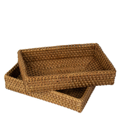 Made Terra napkin holder Set 2 Rustic Guest Towel Napkin Holder | Paper Hand Towels Storage Tray (Natural)