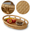 Made Terra Oval Rattan Wicker Serving Trays with Handles