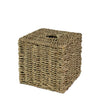 Made Terra Paper Holder Seagrass Natural Cube Wicker Tissue Box Cover | Decorative Paper & Napkin Holder Dispenser