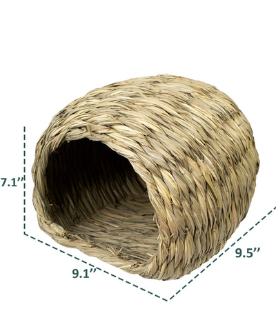 Made Terra Pet House Sea Grass House for Laying or Sleeping | Pet-Safe, Edible Chew Home for Small Pets