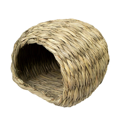 Made Terra Pet House Large Sea Grass House for Laying or Sleeping | Pet-Safe, Edible Chew Home for Small Pets