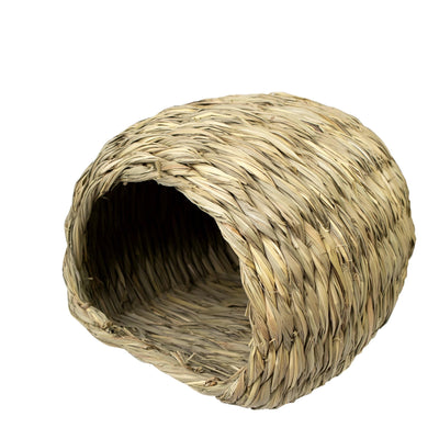Made Terra Pet House Medium Sea Grass House for Laying or Sleeping | Pet-Safe, Edible Chew Home for Small Pets