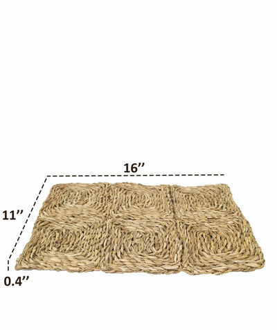 Made Terra Pet Mat SeaGrass Pet Mats for Small Animals | Protect Paws from Wire Cage | Set of 2