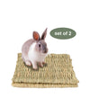 Made Terra Pet Mat Set of 2 Seagrass Pet Mats (Small) | Protect Paws from Wire Cages for Small Pets