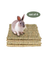 Made Terra Pet Mat Set of 4 Seagrass Pet Mats (Small) | Protect Paws from Wire Cages for Small Pets